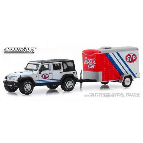 Greenlight Hitch and Tow Series 18 - 2015 Jeep Wrangler and Cargo Trailer