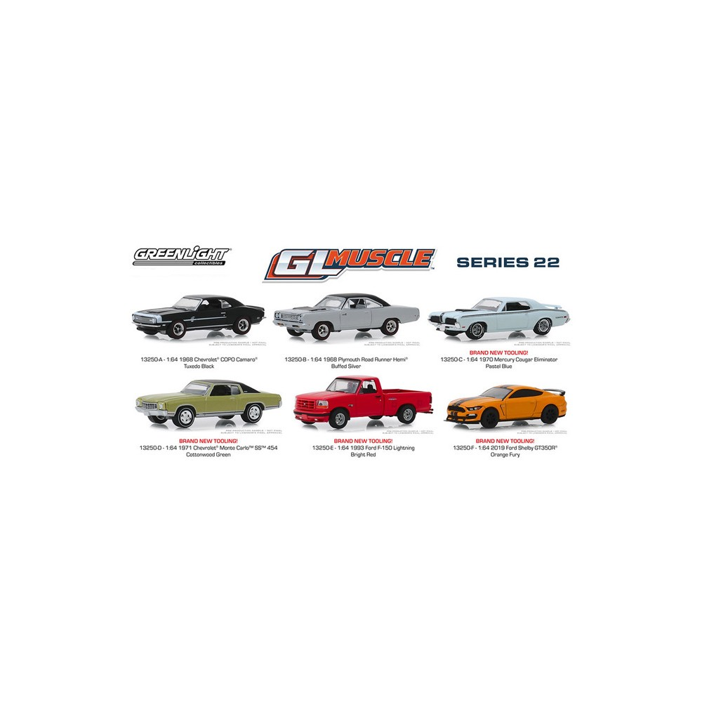 Greenlight Muscle Series 22 - Six Car Set