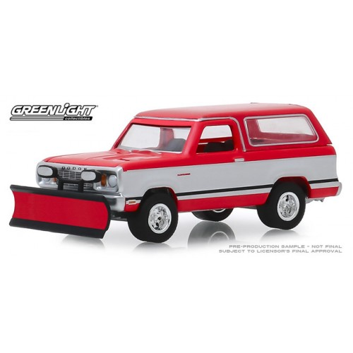 Greenlight Blue Collar Series 6 - 1977 Dodge Ramcharger with Snow Plow