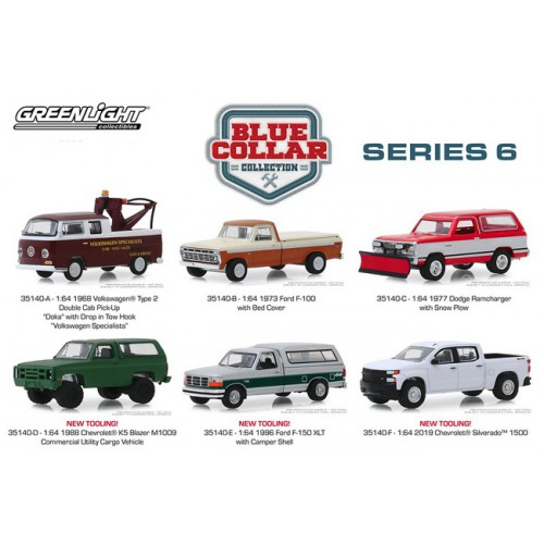 Greenlight Blue Collar Series 6 - Six Truck Set