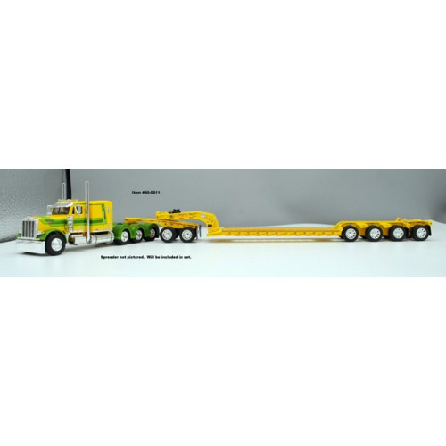 DCP Peterbilt 379 Tri-Axle with Fontaine Heavy Haul Lowboy Trailer