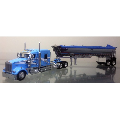 DCP Kenworth W900L with Chrome MAC Round Dump