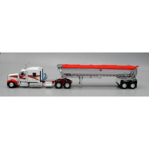 DCP Kenworth W900L with Chrome MAC Round Dump Trailer