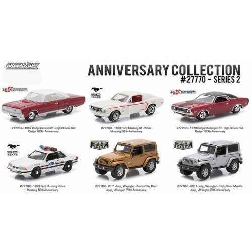 Anniversary Collection Series 2 - Six Car Set