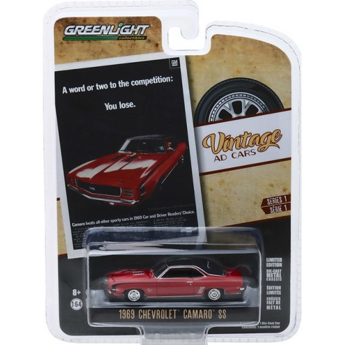Greenlight Vintage Ad Cars Series 1 - 1969 Chevrolet Camaro SS