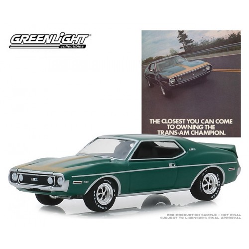 Greenlight Vintage Ad Cars Series 1 - 1972 AMC Javelin AMX