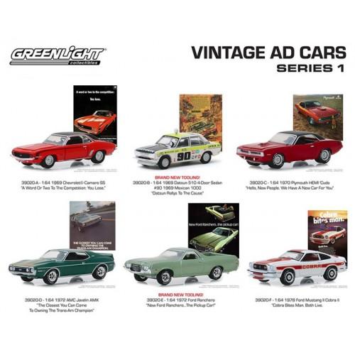 Greenlight Vintage Ad Cars Series 1 - Six Car Set
