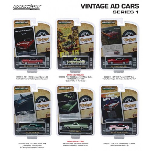 Greenlight Vintage Ad Cars Series 1 - Six Car Set
