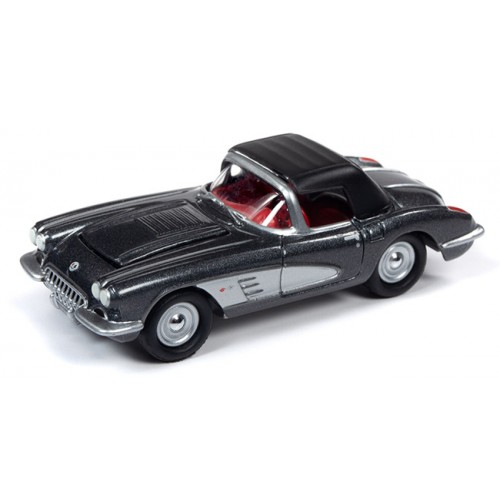 Johnny Lightning Muscle Cars - 1958 Chevrolet Corvette Convertible