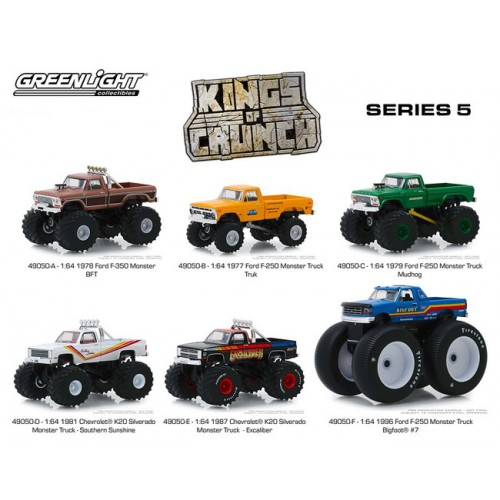 Greenlight Kings of Crunch Series 5 - Six Truck Set