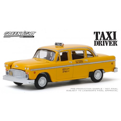 Greenlight Hollywood Series 26 - 1975 Checker Cab Taxi Driver