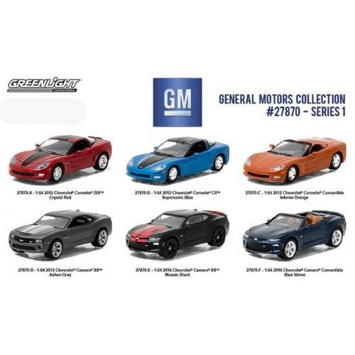 General Motors Collection Series 1 - Six Car Set