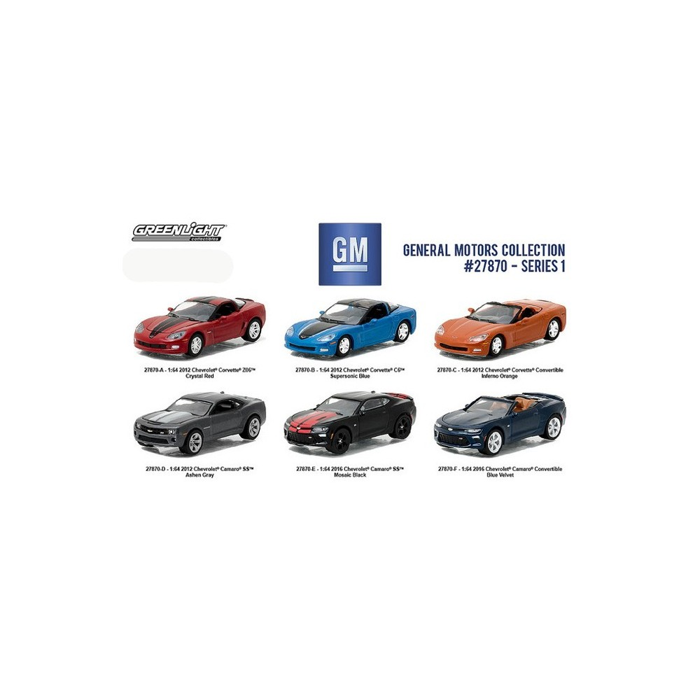 Greenlight general motors collection series 1 six car set for General motors cars brands