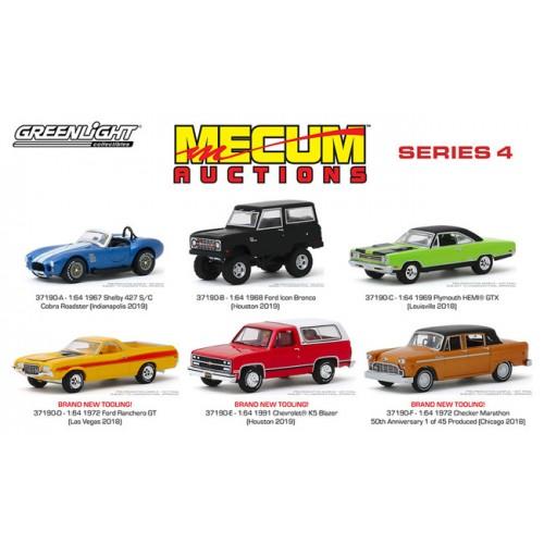 Greenlight Mecum Auctions Series 4 - Six Car Set