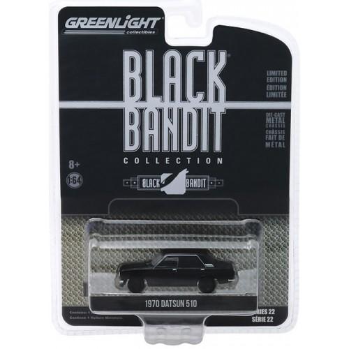 Greenlight Black Bandit Series 22 - 1970 Datsun 510 4-Door Sedan