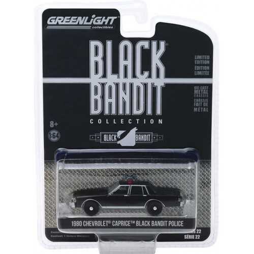 Greenlight Black Bandit Series 22 - 1980 Chevy Caprice Police Car