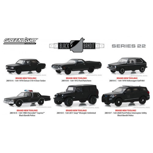Greenlight Black Bandit Series 22 - Six Car Set