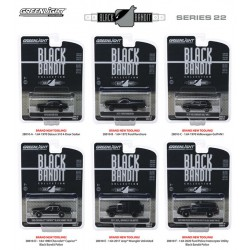 Greenlight Black Bandit Series 22 - Six Car Set