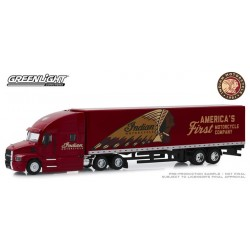 Greenlight Hobby Exclusive - Mack Anthem Tractor Trailer Indian Motorcycle