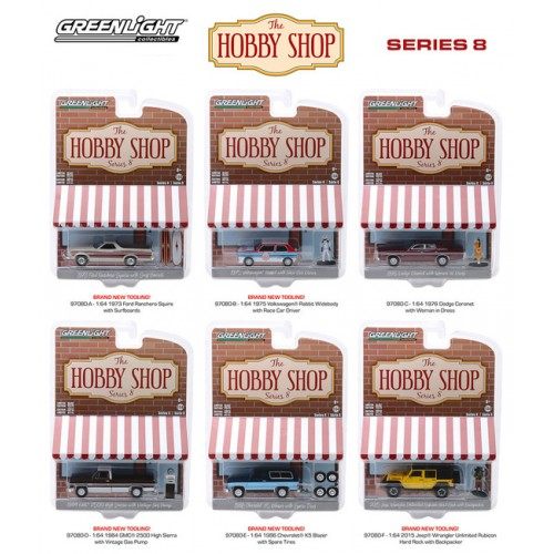Greenlight The Hobby Shop Series 8 - Six Car Set
