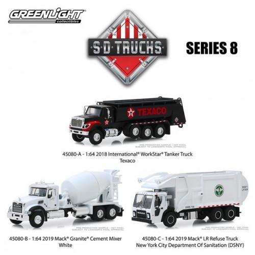 Greenlight S.D. Trucks Series 8 - Three Truck Set