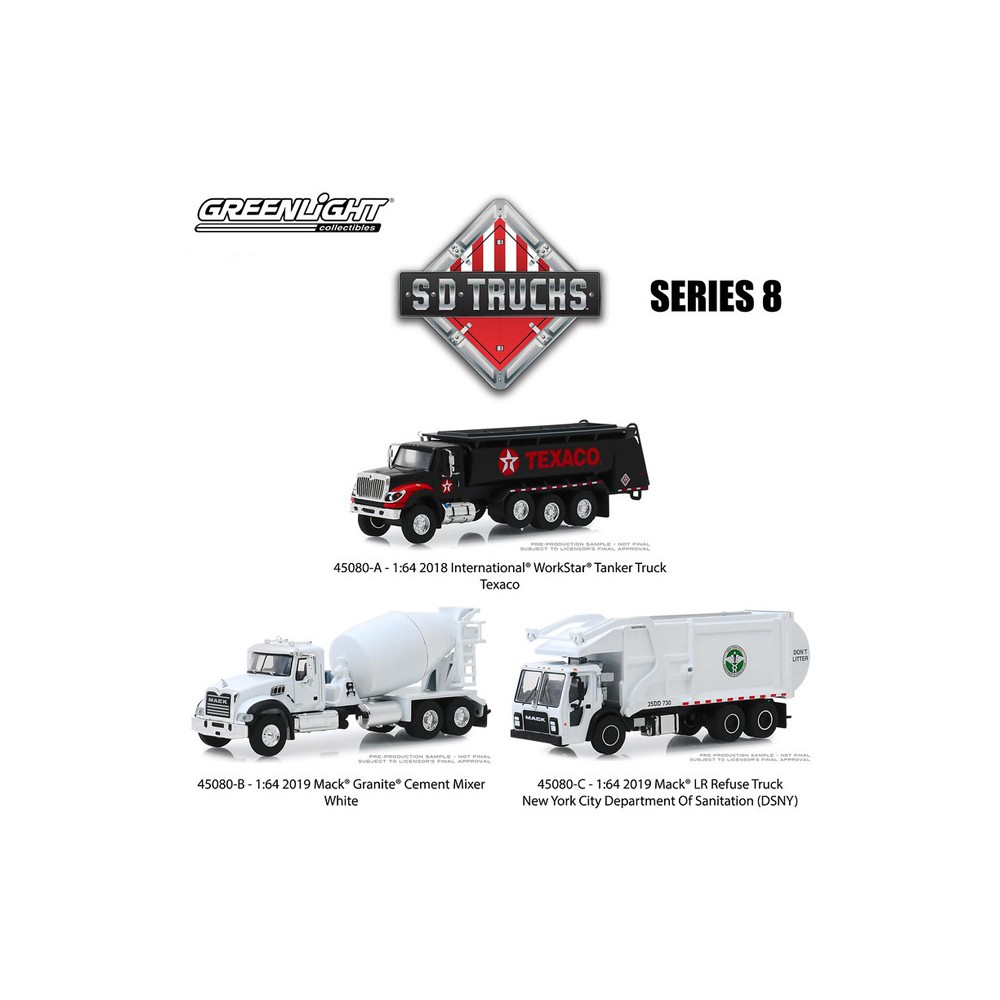 Greenlight S.D. Trucks Series 8 - Three Truck Set