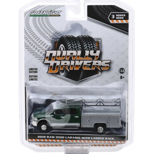Greenlight Dually Drivers Series 3 - 2018 RAM 3500 Dually with Service Bed