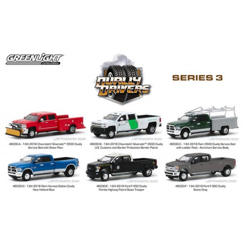 Greenlight Dually Drivers Series 3 - Six Truck Set