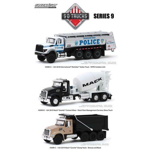Greenlight S.D. Trucks Series 9 -  Three Truck Set