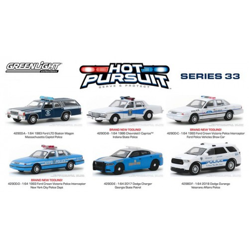 Greenlight Hot Pursuit Series 33 - Six Car Set