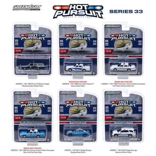Greenlight Hot Pursuit Series 33 - Six Car Set