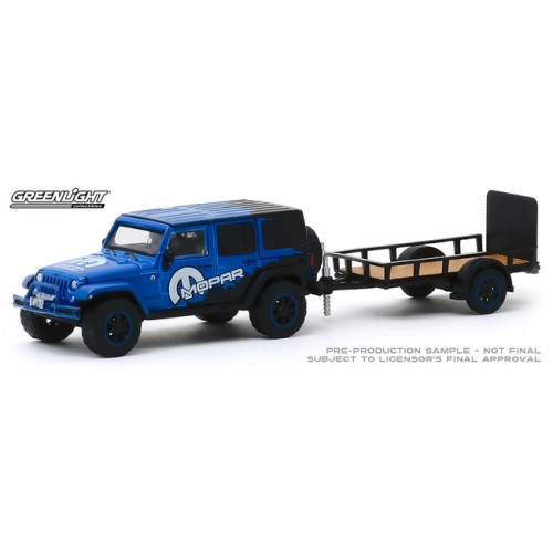 Greenlight Hitch and Tow Series 19 - 2012 Jeep Wrangler Unlimited and Utility Trailer