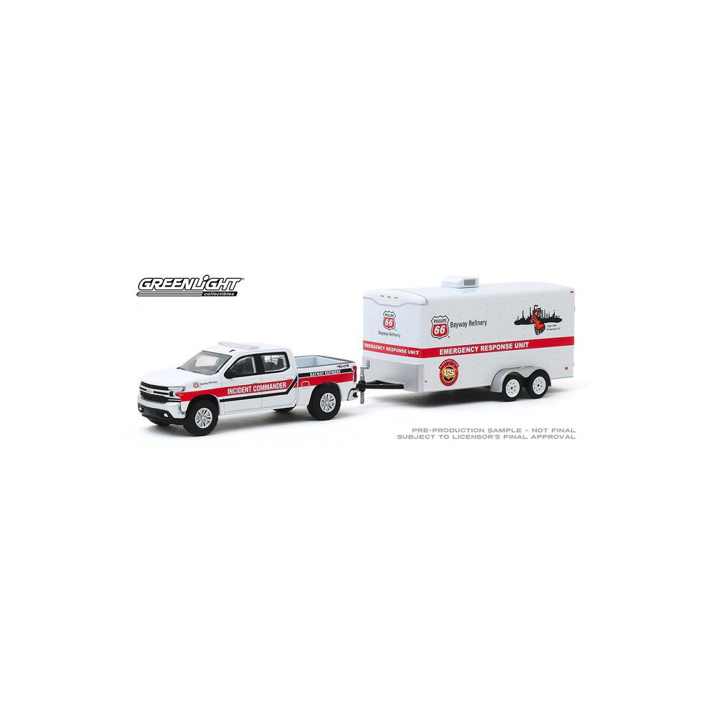 Greenlight Hitch and Tow Series 19 - 2019 Chevy Silverado and Emergency Response Unit Trailer