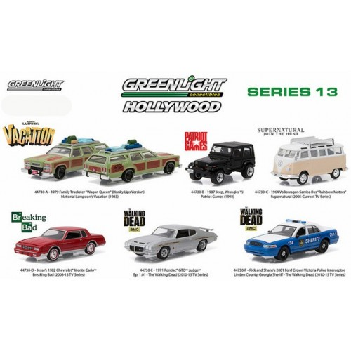 Hollywood Series 13 - Six Car Set