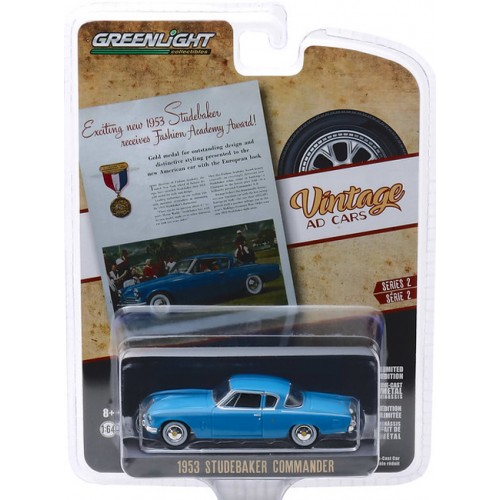 Greenlight Vintage Ad Cars Series 2 - 1953 Studebaker Champion