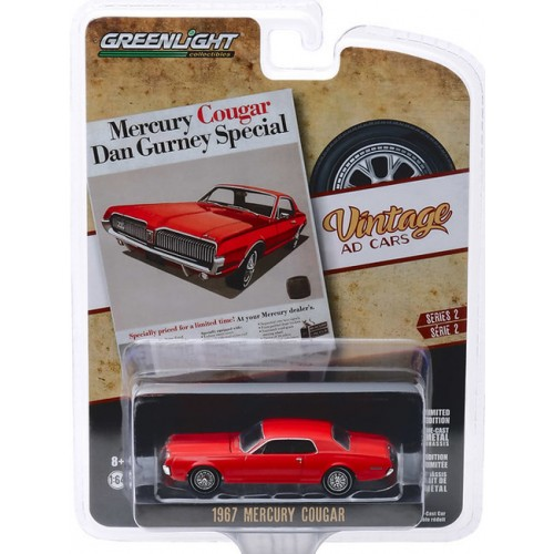 Greenlight Vintage Ad Cars Series 2 - 1967 Mercury Cougar