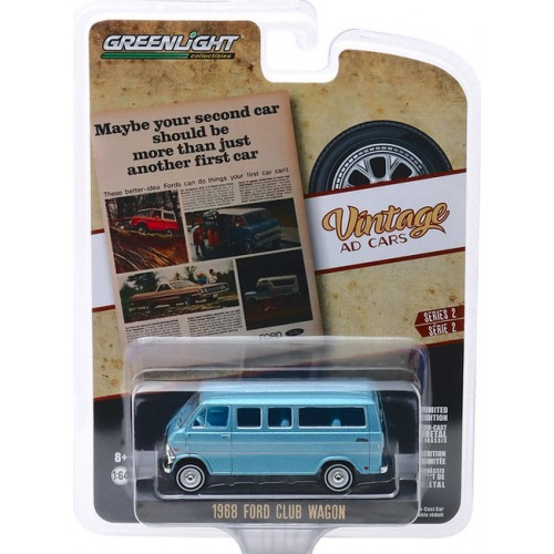 Greenlight Vintage Ad Cars Series 2 - 1968 Ford Club Wagon