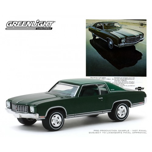 Greenlight Vintage Ad Cars Series 2 - 1970 Chevrolet Monte Carlo