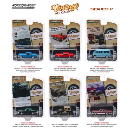 Greenlight Vintage Ad Cars Series 2 - Six Car Set