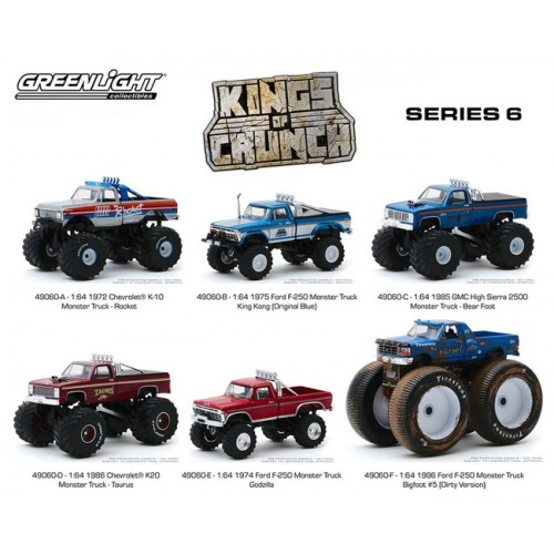 Greenlight Kings of Crunch Series 6 - Six Truck Set