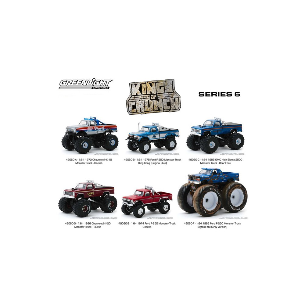 Greenlight Kings of Crunch Series 6 - Six Truck Set