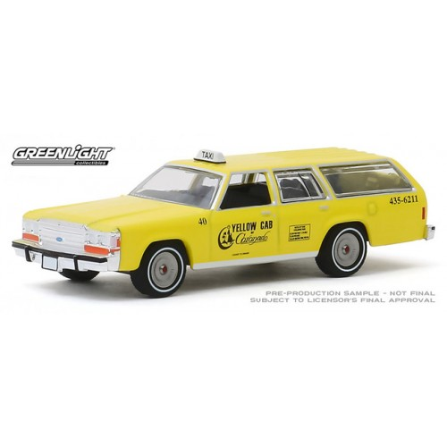Greenlight Hobby Exclusive - 1988 Ford LTD Crown Victoria Wagon Yellow Cab