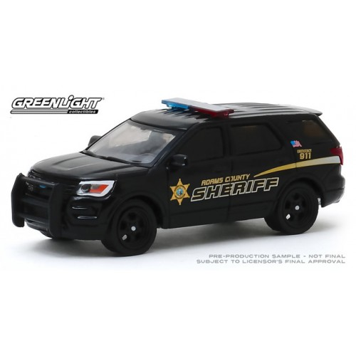 Greenlight Hobby Exclusive - Hot Pursuit 2017 Ford Police Interceptor Utility Adams County Sheriff