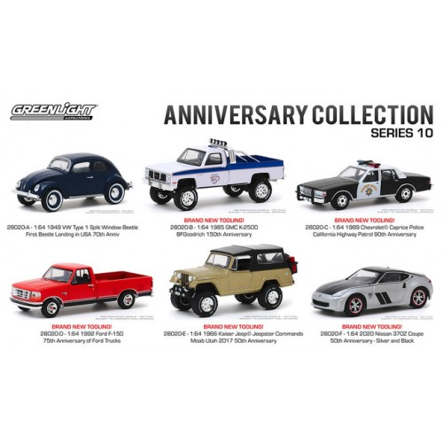 Greenlight Anniversary Collection Series 10 - Six Car Set