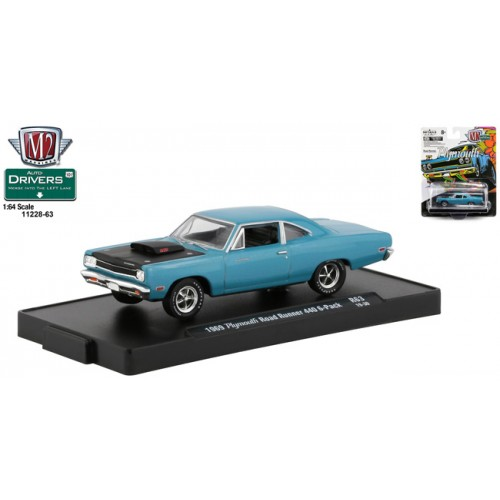 M2 Machines Drivers Release 63 - 1969 Plymouth Road Runner 440