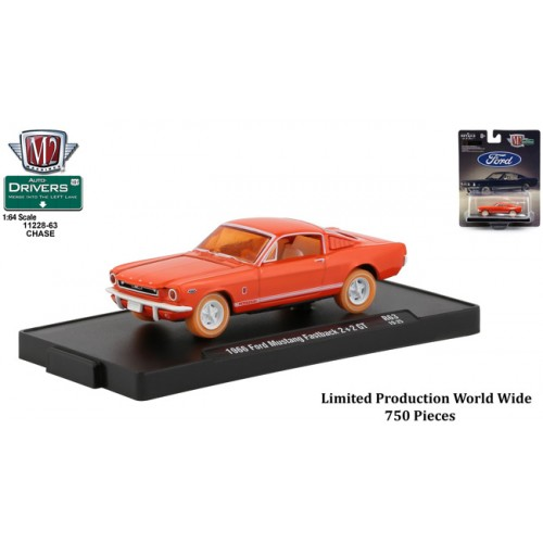 M2 Machines Drivers Release 63 - 1966 Ford Mustang Fastback CHASE VERSION