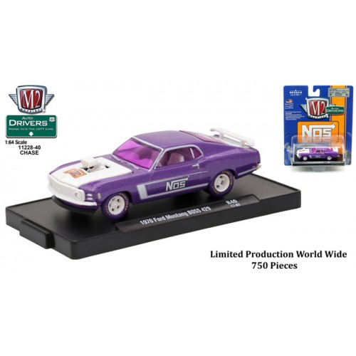 M2 Machines Drivers Release 40 - 1970 Ford Mustang BOSS 429 CHASE VERSION