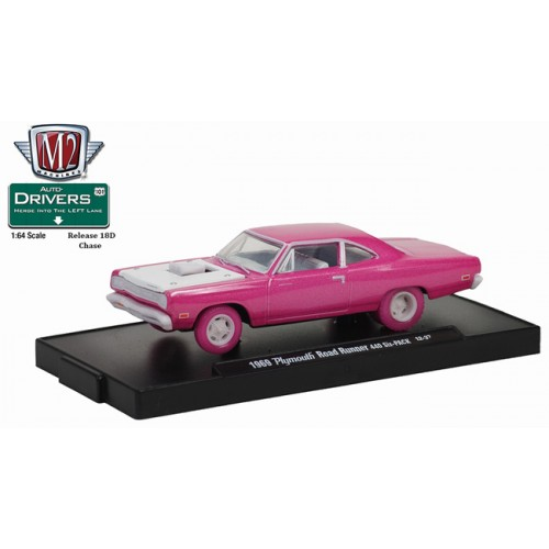 M2 Machines Drivers Release 18D - 1969 Plymouth Road Runner CHASE VERSION