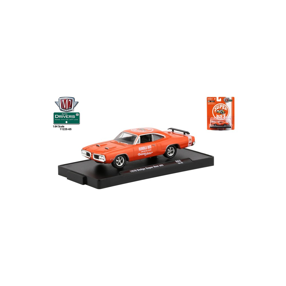 M2 Machines by M2 Collectible Detroit-Muscle 1970 Dodge Super Bee 383 1:64 Scale R28 15-05 White Details Like NO Other!