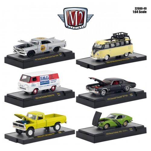 M2 Machines Auto-Meets Release 49 - Six Car Set